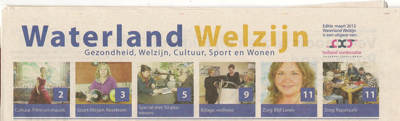 BlijfLeren in Waterland Welzijn van 3 maart 2013
