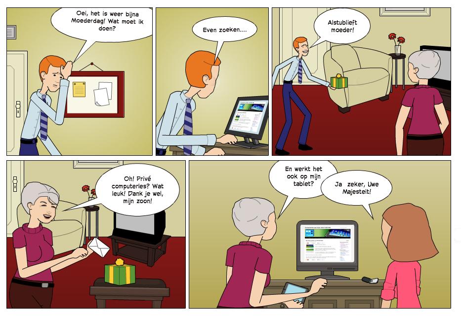 Prive computerles cadeau voor Moederdag