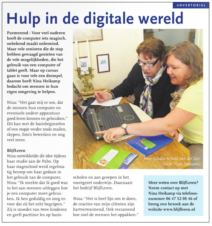 Hulp in de digitale wereld